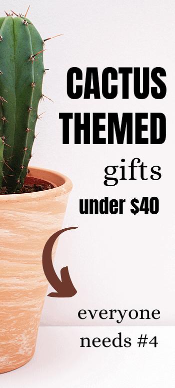 list of cactus themed gift ideas
