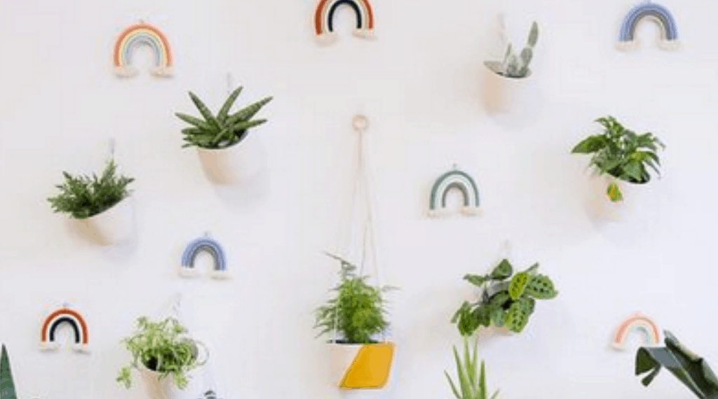 Plant Holders For Plant Theme Baby Room